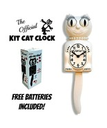 "WHITE LADY KIT CAT CLOCK 15.5"" Free Battery MADE IN USA Official Kit-Cat... - $69.99"