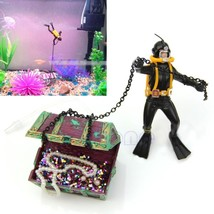 Treasure Hunter Diver Action Figure Fish Tank Ornament Aquarium Decor La... - $34.44 CAD