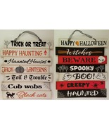 """Halloween Wall Hanging Signs 10.6""""H x 10.3""""W, Select: Theme - $2.99"""
