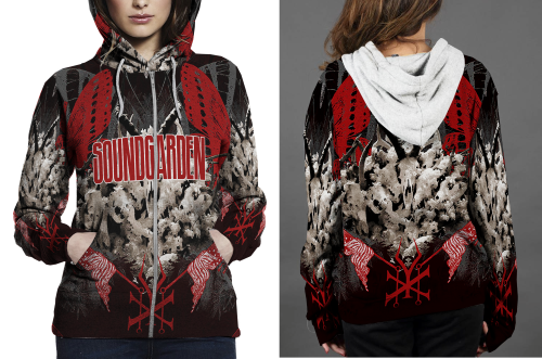 Soundgarden hoodie zipper fullprint women