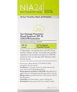 NIA 24 Sun Damage Prevention Sunscreen SP 30 - 2.5 oz / 75ml  (New and f... - $25.10