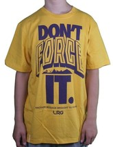 LRG L-R-G Mens Mustard Yellow Purple Don'T Do Not Force It T-Shirt NWT