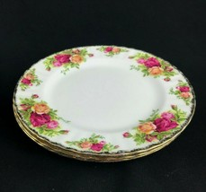 "Royal Albert Old Country Roses 3 Lunch Salad Plates 8"" Bone China England - $37.36"