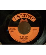 "BELTONE LABEL "" ARE YOU READY "" BOBBY LEWIS 45RPM NEAR MINT RECORD - $4.00"