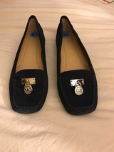 NWT Michael Kors Leather Upper Navy Bluer Suede... - $45.00