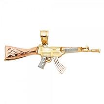 14K Tri Color Gold Rifle Pendant - $179.99