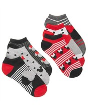 DISNEY Classic MINNIE MOUSE No Show Socks 6 Pack / 6 PAIRS $15 - NWT - $9.04