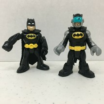 Lot of 2 Fisher Price Imaginext Super Friends DC  BATMAN Figure Toy USA ... - $6.42