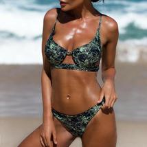 Women's Bikini Set Pushup Padded Floral Swimsuit Bandage Beach Swimwear Summer image 6