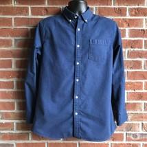Sonoma Modern Fit Cotton Navy Flannel Shirt - Size M - $14.54