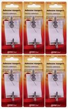 6 New! Hillman AnchorWire 1-1/2 lb. Steel Single Adhesive Hangers 5 pk 1... - $16.99