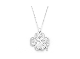 Crystal Pave Clover Pendant Necklace - $13.95