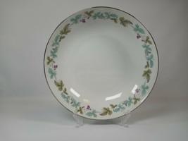 """Vintage 6701 Fine China Blue & Green Grape Leaf Pattern 9 1/4"""" Vegetable... - $16.99"""