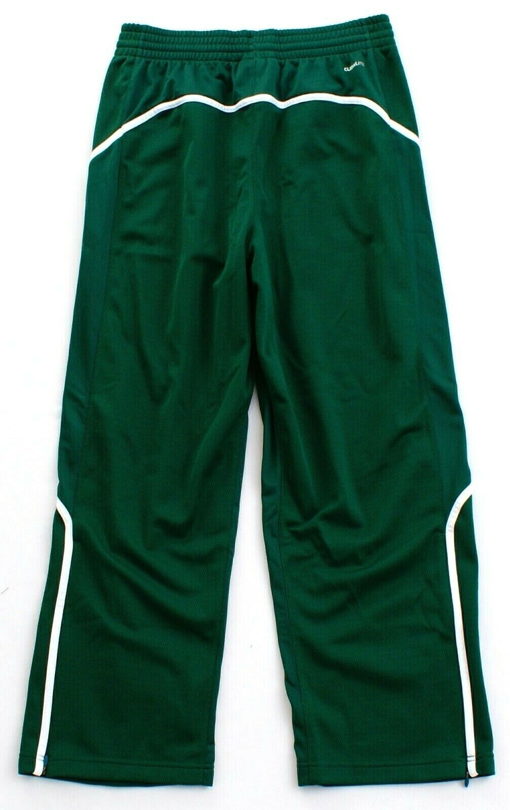 Adidas ClimaLite Green & White Pro Team Track Pants Men's NWT