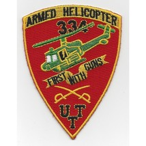 US Army US Army 334th Air Cavalry Company Patch FIRST WITH GUNS ARMED HE... - $11.87