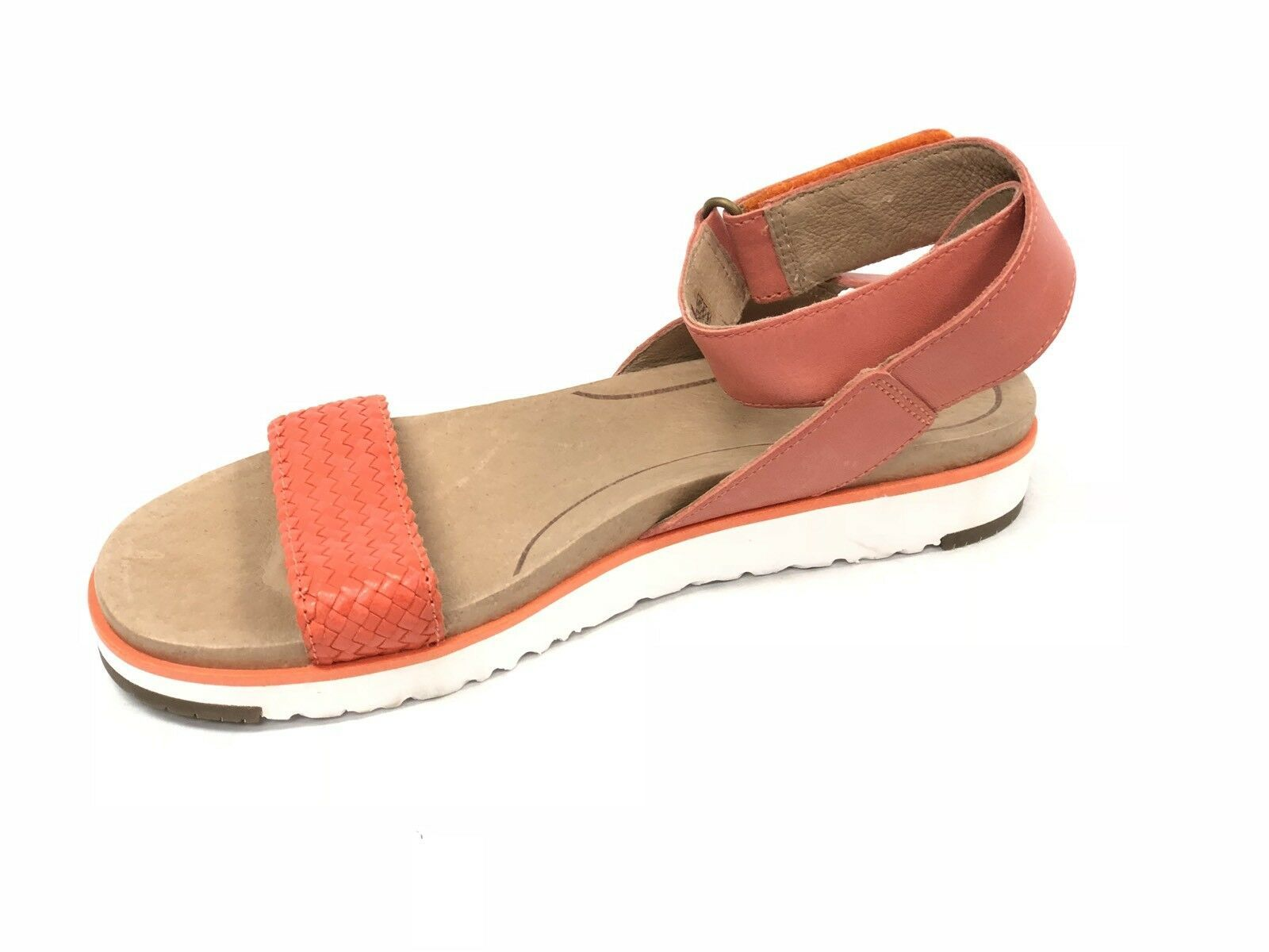 Ugg Australia Laddie Women's Ankle Strap Fire Opal Orange Sandal 1015669 Shoes