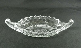 "Vintage Fostoria American Serving Tray Boat Clear Glass 9"" Relish Candy Nut - $13.85"