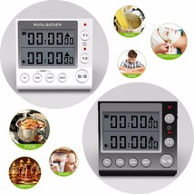 Digital Timer Alarm Lcd Clock Cook Count Down Up Loud Large Switch Kitch... - $25.99