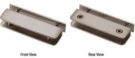CRL Brushed Nickel Thru-Glass Rectangular Shelf Clamp - $40.50