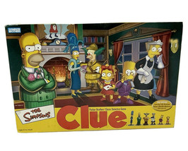 THE SIMPSONS Clue Board Game 2nd Edition 2002 Parker Brothers 100% Complete - $19.99