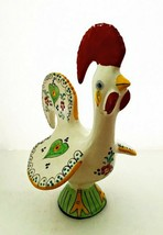 """Hand Painted Rooster Made in Portugal Porcelain Colorful Chicken 11.5"""" Tall - $39.59"""