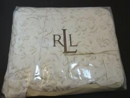 Ralph Lauren Yorkshire Rose Tonal Vine Cream Beige King Bedskirt NIP - $73.67