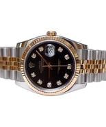 Two tone Rolex date just watch black diamond di... - $3,637.26