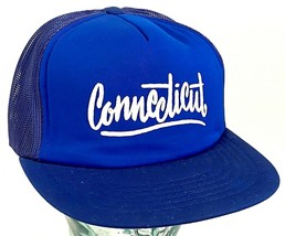 CONNECTICUT Hat-Mesh-Puff Letters-Terrycloth Front-Snapback - $22.43