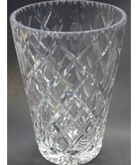 Hand cut pineapple glass vase polished clear plus cross cutting - $36.12