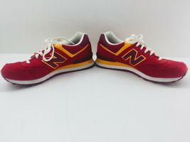 New Balance Athletic Sneaker Shoes Men's Sz 11.5 Red Orange ML574PPR  574 EUC image 8