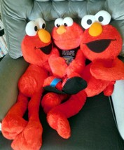 "TOY Lot 3 LARGE Plush ELMO Approx. 19"" & 24"" Fisher Price 2007-2008 VY Clean EUC - $25.99"