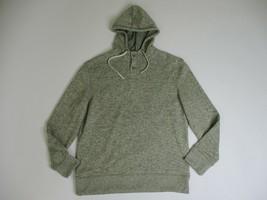 Van Heusen Henley Hoodie Men Large Sweatshirt w/ Hood - $14.88