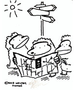 Lost Apes Search for Directions. Original Signed Cartoon by Walter Moore... - $9.52