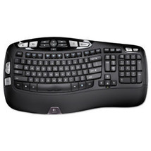 Logitech 920001996 K350 Ergonomically-Designed Wireless Keyboard (Black)... - $109.37