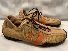 CONVERSE Driving Style Shoe Men's Size 9 Brown Tan Orange 1Q933 - $55.43