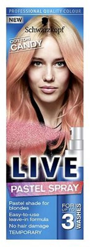 Primary image for Schwarzkopf LIVE Pastel Spray Cotton Candy for Blonde Hair 3 Washes