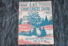 1946 Amsterdam NY Sportsman Show Large Program, 18 Pages, Great - $17.59