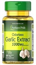 Puritan's Pride Odorless Garlic 1000 mg-100 Rapid Release Softgels - $10.49