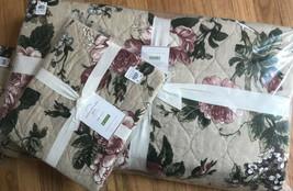 Pottery Barn Adelise Quilt Set Soft Rose King 2 King Shams Pink Floral Mauve  - $210.58