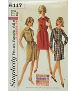 Vintage 1960s Simplicity Sewing Pattern 6117 Misses Dress Size 14 34B - $21.59
