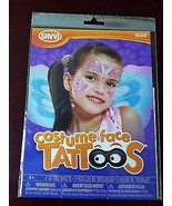 Costume Face Tattoos - 2 Temporary Tattoo Sheets - $2.76