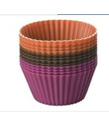 Chicago Metallic CMB011 Silicone Baking Cups, Multi Color, 12 count New - $8.90
