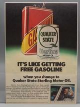 Vintage Rivista ad Stampa Design Pubblicità Quaker Stato Sterling Olio Motore - $28.20