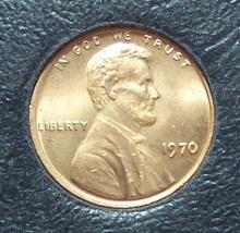 1970 Lincoln Penny Choice BU #01147 - $0.89