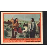 Cheyenne Autumn Lobby Card #6-1964- Sal Mineo and Ricardo Montalban - $29.68