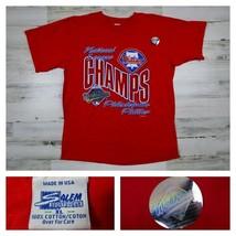 Vintage Philadelphia Phillies 1993 World Series Single Stitch Shirt Base... - $39.99