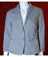 NWT DKNY JEANS gray stretch cotton long sleeve blazer jacket S (T20-06A8G) - $27.70