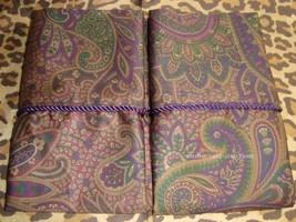 2 Standard Pillowcases Set two new Ralph Lauren BOHEMIAN PAISLEY w/ CORD... - $74.69