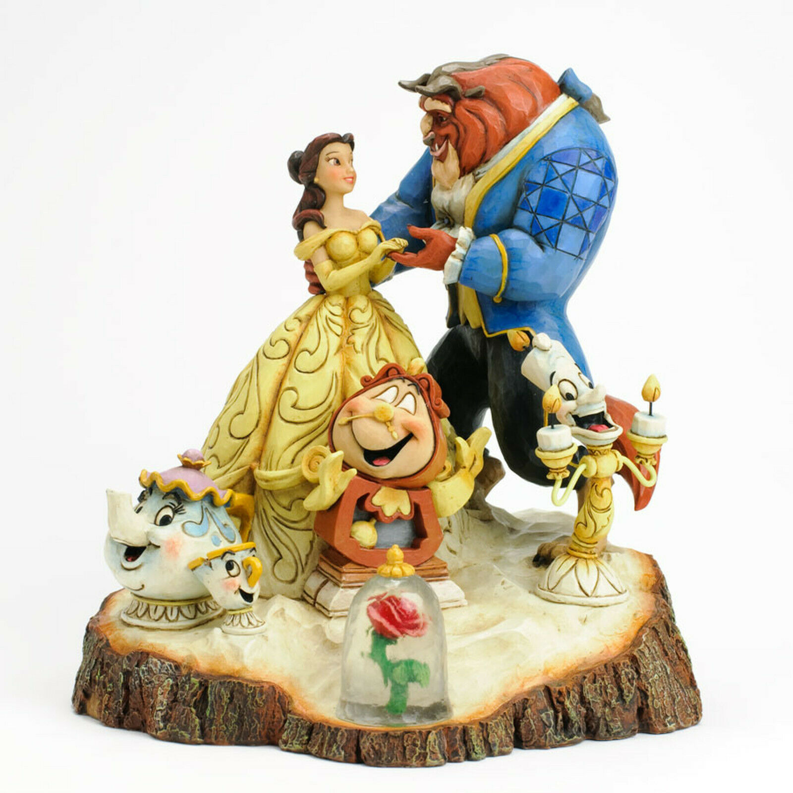 "Primary image for 7.75"" Beauty - Beast Figurine Carved By Heart by Jim Shore Disney Traditions"