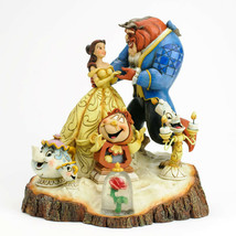 "7.75"" Beauty - Beast Figurine Carved By Heart by Jim Shore Disney Traditions"